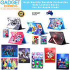 Kids Cartoon Leather Fold Flip Case Protect Cover For iPad 6th 5 Gen Mini Air 2
