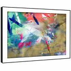 AB1564 Colourful Cool Funky Modern Abstract Framed Wall Art Large Picture Prints
