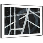 AB1770 Black White Grey Modern Abstract Framed Wall Art Large Picture Prints