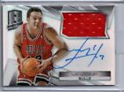 2014-15 Spectra Luc Longley Autograph Jersey Prizm Refractor SP # /100! Bulls