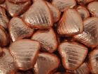 COPPER FOILED CHOCOLATE LOVE HEARTS WEDDING FAVOURS WRAPPED