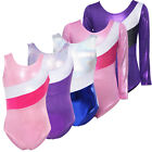 Внешний вид - Girls Kids Metallic Sparkly Foil Gymnastics Leotards Stripe Ballet Dance Unitard