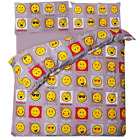 Emojis Expression Duvet Cover Set With Pillow Covers (Gray)