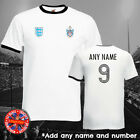 Fulham  England Football Ringer T shirt Personalise Retro World Cup Gift
