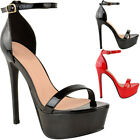 Womens Ladies Platform High Heel Stiletto Sandals Sexy Party Prom Shoes New Size