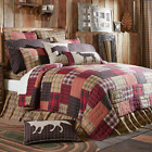 WYATT QUILT SET-choose size & accessories-Plaid Block Cabin Lodge VHC Brands image