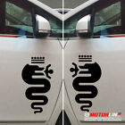 Pair pick size color Snake Decal Sticker Car Vinyl Fit for Alfa Romeo mirrored