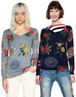 Desigual Perkins Galactic Circle & Flower Print Jumper XS-XL UK 8-16 RRP ?74