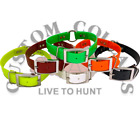 """1"""" Ring In Center Poly Nylon Dayglo Hunting Dog Collar W/ Printed Nameplate"""