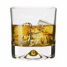 Personalised 40th Birthday Dimple Base Whisky Short Glass Tumbler Engraved Gift