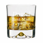 Personalised Large Wedding Whisky Glass 11oz Tumbler Engraved Thank You Favours