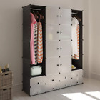 Bedroom Modular Furniture Cabinet with 18 Compartments Colthing Home Stroage