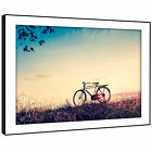 SC554 Retro Blue Red Bicycle Cool Landscape Framed Wall Art Large Picture Prints