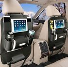 OTCPP Leather Car Seat Back Organizer for Travel With Baby Storage Bags iPad min