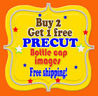 days of thunder images - Buy 2 Get 1 Free Bottle cap images Cupcake Toppers FREE SHIPPING!!!