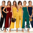 UK Womens Bootcut Jumpsuit Ladies Evening Night Out Party Playsuit Size 6 - 16