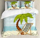 Ambesonne Fabric Duvet Cover Set Decorative 3 Piece Bedding with 2 Pillow Shams