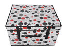 New Large Home Non-woven Handles Laundry Storage Bag Box Clothes Organizer