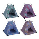 Dog Tent Indoor Outdoor Kennel Teep House Portable Folding Bed Pet Cat Striped