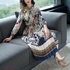 vestidos de xv 2013 - Women 2018 Maxi Dresses Long Sleeves Female Vestidos Print Bow Occident Dress