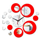 DIY Clock Acrylic 3D Mirror Wall Sticker Mural Decal Removable Living Room Decor