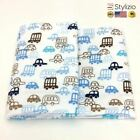 NEW 100X76 Cm Cartoon Printing Cotton Flannel Baby Bed Sheets Bedding Set Infant