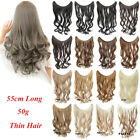 50g 22'' Wave Fish Line Hair Extensions Synthetic halo Hairpieces One Piece Only