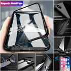 Magnetic Adsorption Metal Bumper Case Temper Glass Cover for Phone XS Max X 7 8