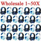 LOT 1~50PCS Gaming Headset Surround Stereo Headband Headphone USB 3.5mm W/LED