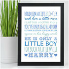 Personalised Hold Him A Little Longer Nursery Wall Art Gifts for Baby Boy Girl