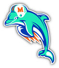 Miami Dolphins NFL Football Logo Car Bumper Sticker Decal -9'', 12'' or 14'' on eBay