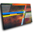 ZAB1559 Retro Colourful Cool Modern Canvas Abstract Wall Art Picture Prints