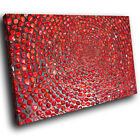 ZAB1580 Red Grey Cool Funky Modern Canvas Abstract Home Wall Art Picture Prints