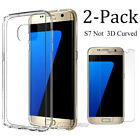 Galaxy S7 Edge Case Slim Clear Shockproof with Tempered Glass Screen Protector