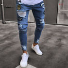USA Sell Fashion Men Ripped Skinny Jeans Destroyed Frayed Slim Jeans Denim Pant