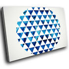 ZAB643 Blue White Geometric Modern Canvas Abstract Home Wall Art Picture Prints