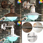 Shabby LED wall light dimmable courtyard outdoor lantern RGB remote control lamp