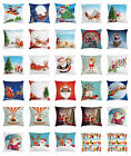 Santa Throw Pillow Cases Cushion Covers by Ambesonne Home Accent Decor 8 Sizes