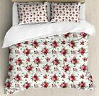Floral Duvet Cover Set Twin Queen King Sizes with Pillow Shams Bedding Decor