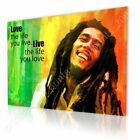 Bob Marley #2 Jamaican Reggae Quote by Alonline DSN | Ready to hang canvas |