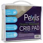 Crib Matress Pad Pexils Natural Quilted Fitted Organic Waterproof 28 x 52 Inches