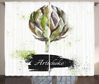 Artichoke Curtains 2 Panel Set for Decor 5 Sizes Available Window Drapes