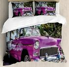 Colorful Cars Duvet Cover Set Twin Queen King Sizes with Pillow Shams Bedding