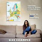 146089 Map of Europe Wall Print Poster UK