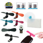 Portable 2 in 1 Mini Micro USB Cooling Fan for Android Cell Phone Power Supply