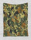 Camo Tapestry Wall Hanging Decoration for Room 2 Sizes Available Ambesonne