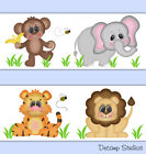 Внешний вид - Safari Animal Wallpaper Border Wall Art Decal Baby Boy Nursery Jungle Stickers