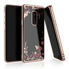For Samsung Galaxy A6 A8 A9 2018 S9 Bling Glitter Diamond Rubber Soft Case Cover