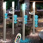 RGB LED Dimmer Stand Lamp Remote Control Motion Sensor Garden Outdoor Sockets