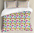 Teen Room Duvet Cover Set Twin Queen King Sizes with Pillow Shams Ambesonne